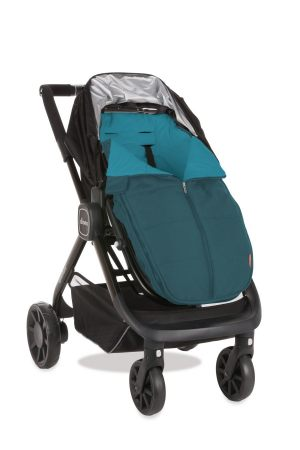 All-weather-footmuff-teal-on-stroller